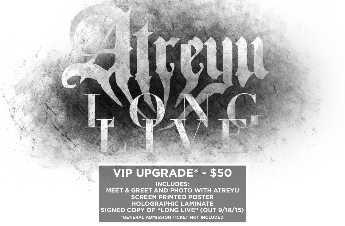Atreyu Long Live Tickets