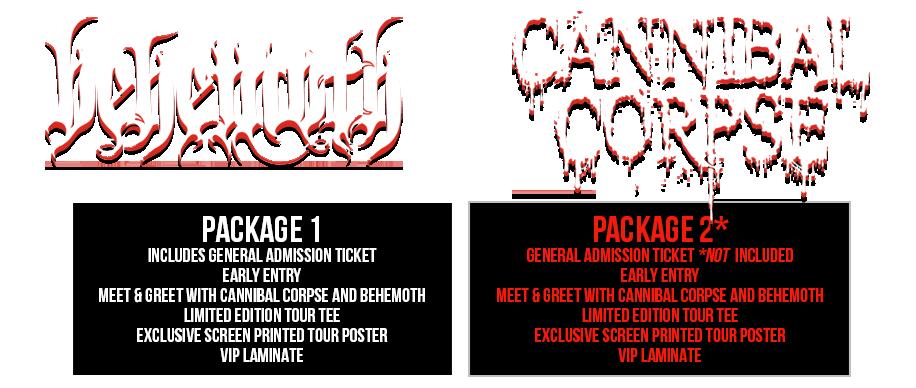 Behemoth Cannibal Corpse Tickets