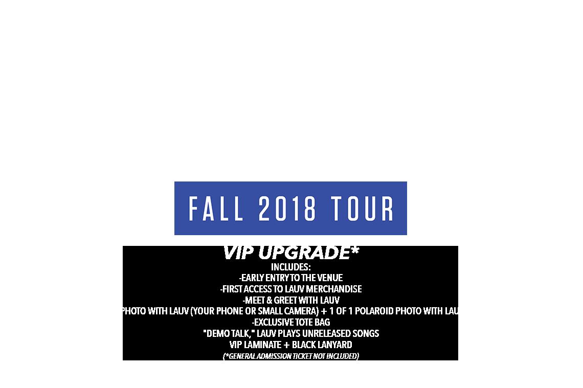 Ticketspin Lauv Uk Eu Fall Vip 2018 Tickets