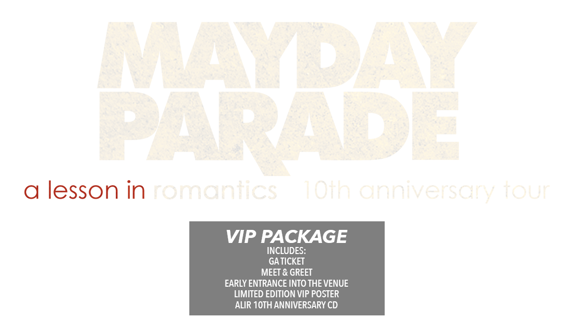 Mayday Parade A Lesson In Romantics 10th Anniversary Tour Tickets