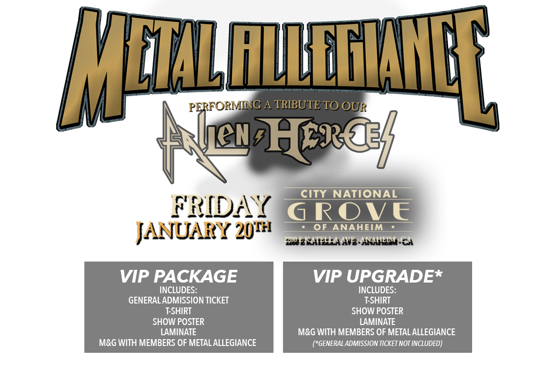 Metal Allegiance The Grove 2017