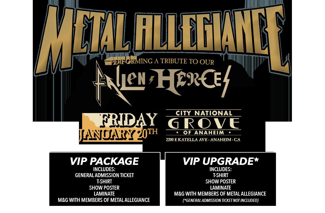 Metal Allegiance The Grove 2017