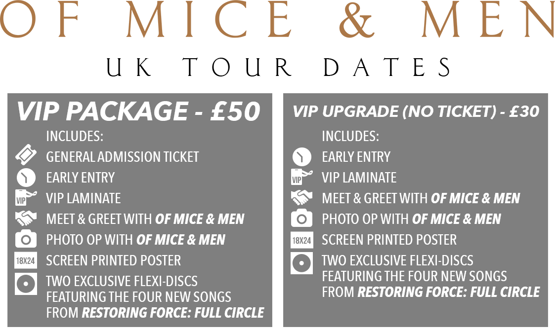 Of Mice & Men Tickets UK