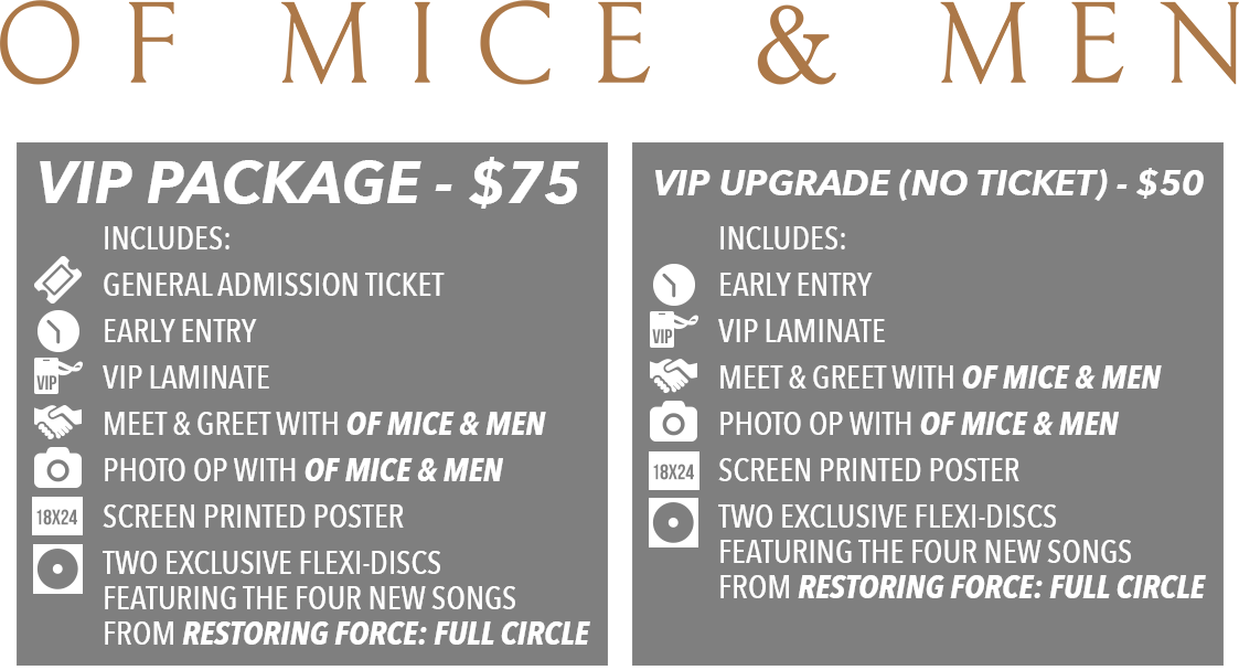 Of Mice & Men Tickets US