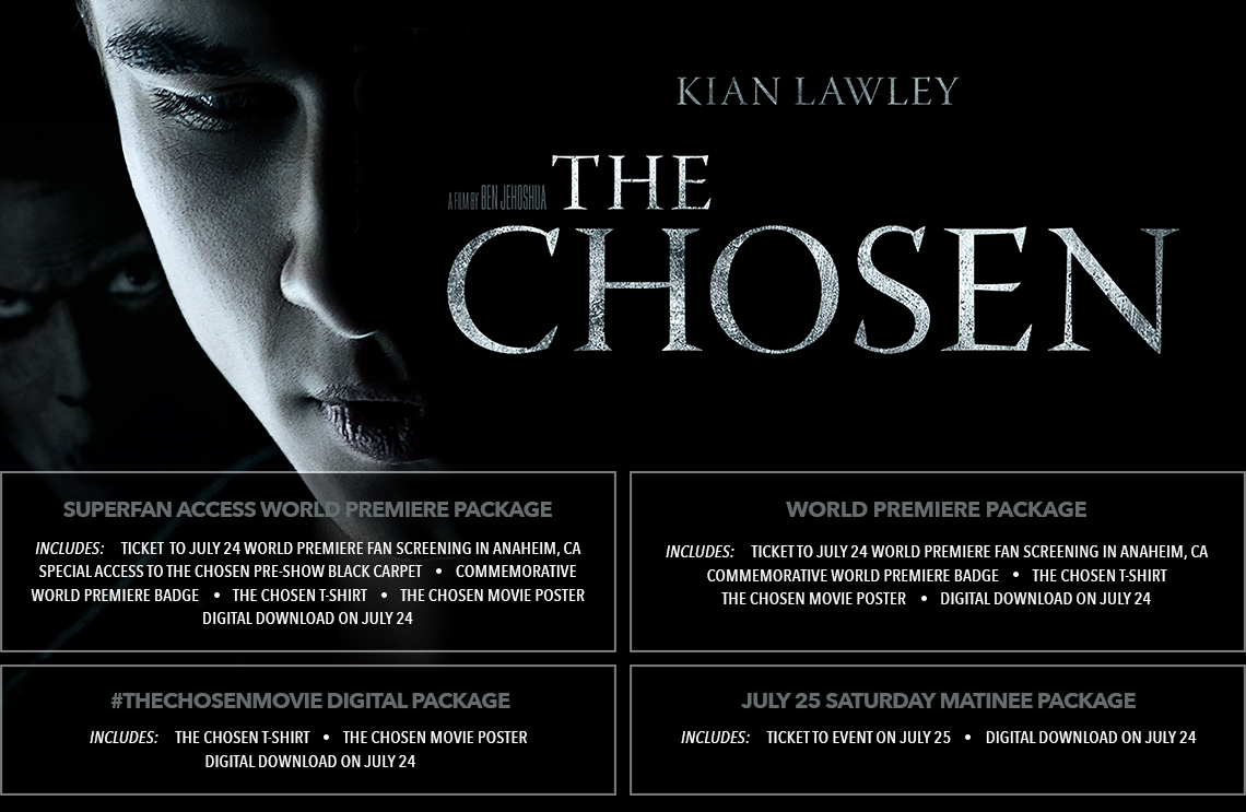 The Chosen Movie Tickets