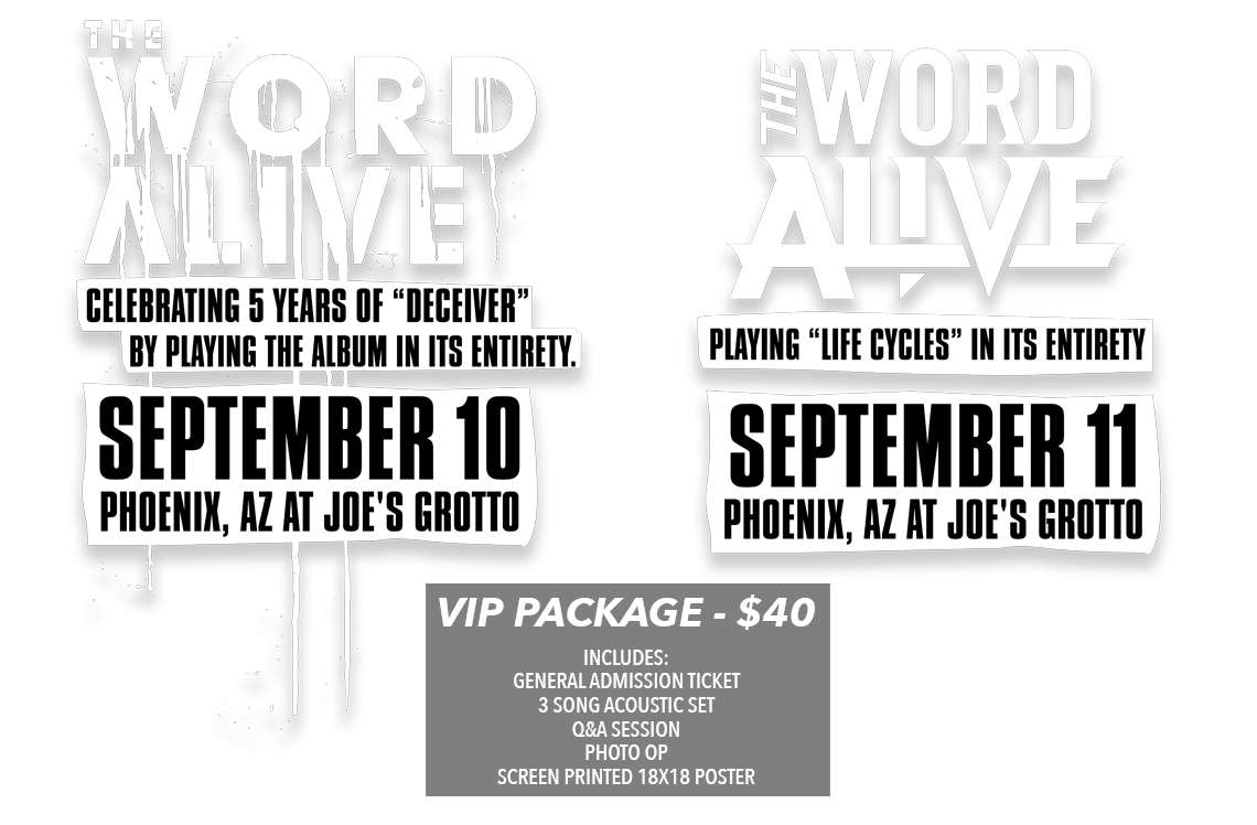 The Word Alive Sick Tour Tickets