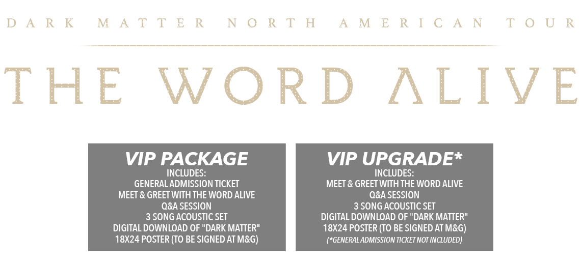 The Word Alive Dark Matter Tickets