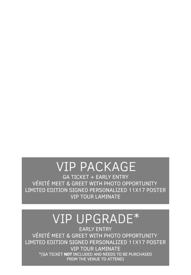 VÉRITÉ Somewhere In Between Tour 2017 Tickets